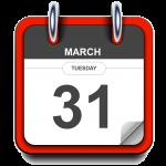 Tuesday - March 31 - Calendar Icon