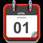 Wednesday - April 1 - Calendar Icon