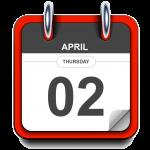Thursday - April 2 - Calendar Icon