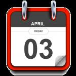 Friday - April 3 - Calendar Icon