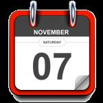 Saturday - November 07 - Calendar Icon