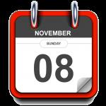 Sunday - November 08 - Calendar Icon