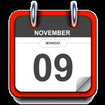 Monday - November 09 - Calendar Icon